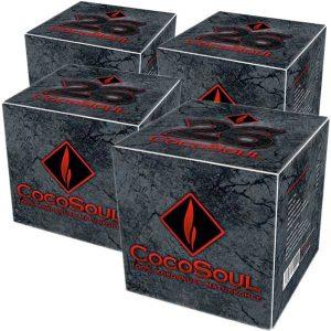 CocoSoul® - 26er - Naturkohle Cubes aus Kokonussschalen - 4x 1 kg