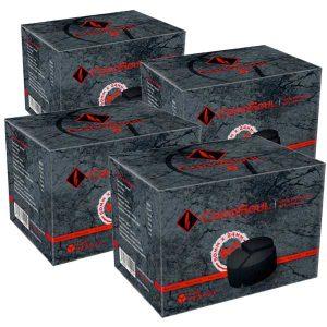 CocoSoul® 3er - Naturkohle Runde oder Kaloud aus Kokonussschalen - 4x 1 kg