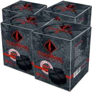 CocoSoul® 4er - Naturkohle Runde oder Kaloud aus Kokonussschalen - 4x 1 kg