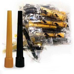 My-Shisha-Hygiene-Mundstücke-–-8,5-cm-–-Schwarz-und-Gold-–-50-Stk-Beutel