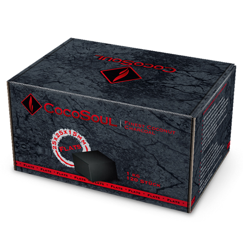 CocoSoul® - C15 Flats - Naturkohle Cubes aus Kokonussschalen - 1 kg
